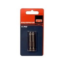 2 szt. bitów 50 mm do śrub Phillips, w blistrze (BAHCO)