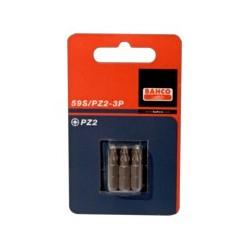 3 szt. bitów 25 mm w blistrze do śrub Pozidriv (BAHCO)