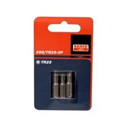 2 szt. bitów 25 mm TORX® z otworem, w blistrze (BAHCO)