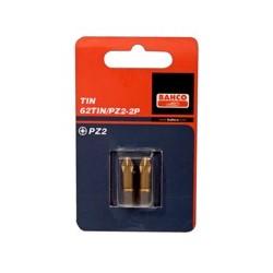 2 szt. bitów TiN 25 mm w blistrze, do śrub Pozidriv (BAHCO)
