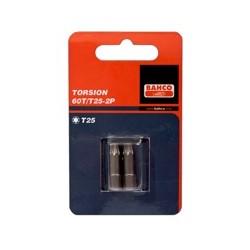 2 Bity Torsion 25 mm pakowane w blistrze, do śrub TORX® (BAHCO)