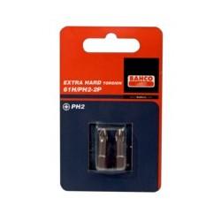2 szt. bitów utwardzanych 25 mm w blistrze, do śrub Phillipsa (BAHCO)