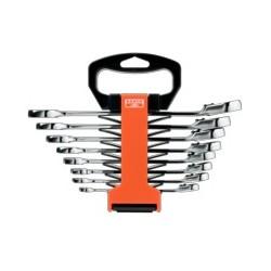 Zestaw kluczy płasko- oczkowych z wbudowaną grzechotką (BAHCO)