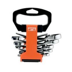 Zestaw kluczy płasko-oczkowych z grzechotką, kompaktowych (BAHCO)