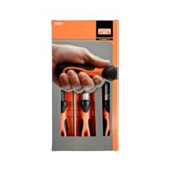 Zestaw: 5 pilników gładzików z rękojeściami (BAHCO)