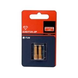 2 bity diamentowe 25mm w blistrze, do śrub TORX® (BAHCO)