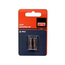 2 szt. bitów ACR 25 mm w blistrze, do śrub Phillips (BAHCO)