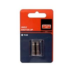 2 szt. bitów nierdzewnych 25 mm w blistrze, do śrub TORX® (BAHCO)